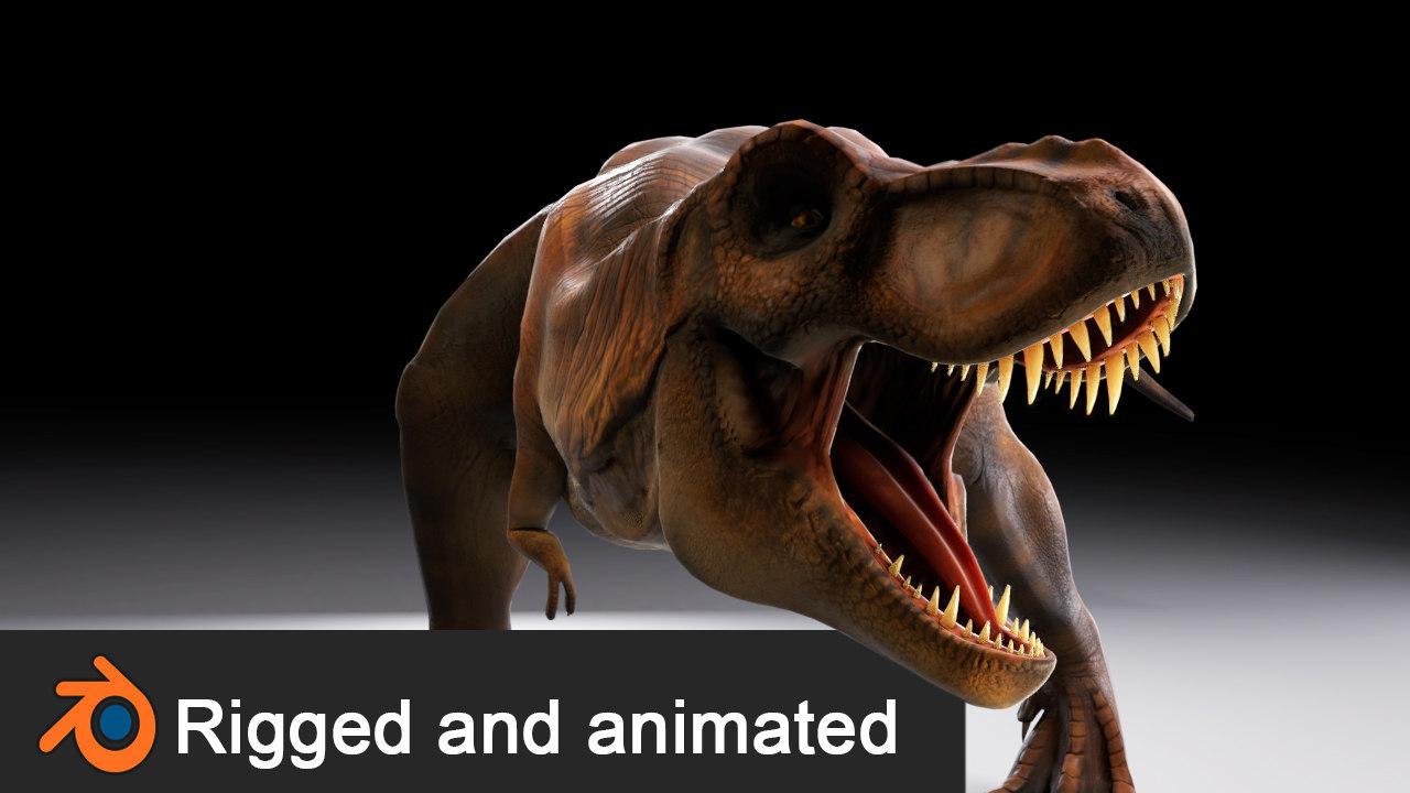 3D tyrannosaurus rex animations model