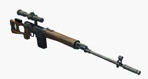 3D dragunov sniper rifle