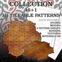 3D pattern set 2 tile model
