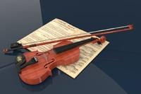 violin music model