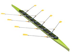 3D row boat model