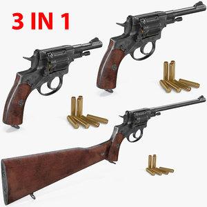 3D nagant revolvers