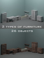 3D room furniture model