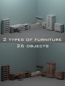 3D room furniture model