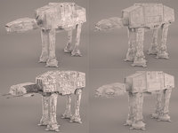 3D collecition at-at star wars model