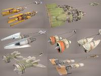 3D pod racer star wars