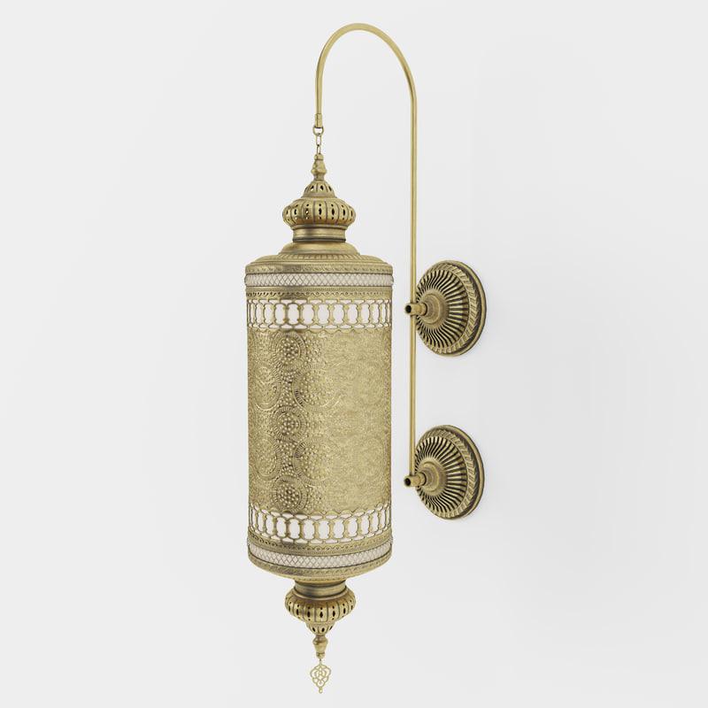 wall moroccan light 3D model