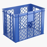 3D plastic storage crate model