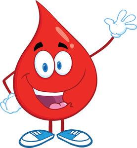 3D blood mascot