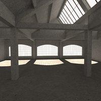 3D model warehouse interior