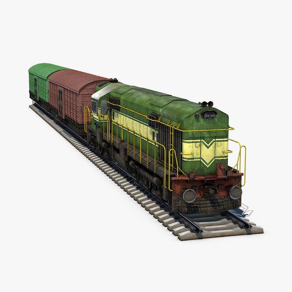 diesel locomotive box car model