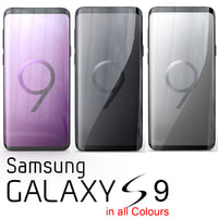 3D samsung galaxy s9 colours