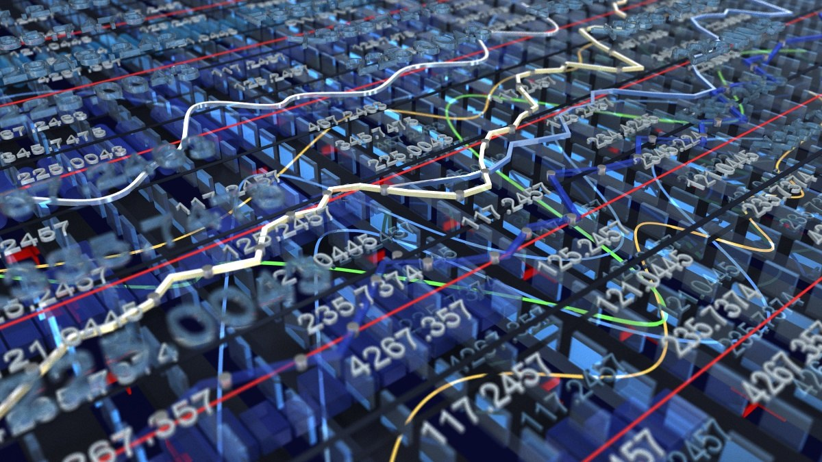 stock market abstract finance 3D model