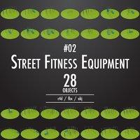 street fitness equipment 02 3D