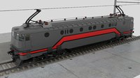 3D cfr train locomotive
