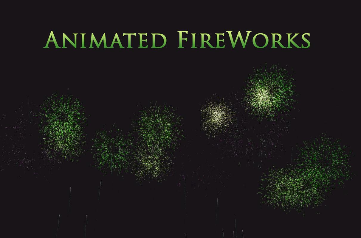 3D fireworks particles