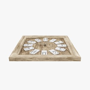 3D wooden domino clock model