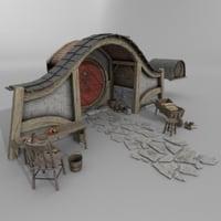 3D halfling home