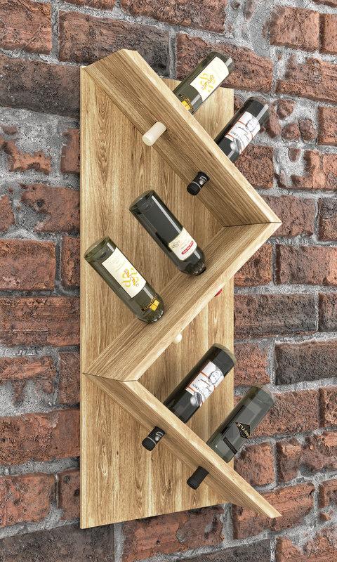 wine rack 3D