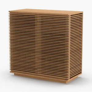 3D model modern-display-cabinet---closed