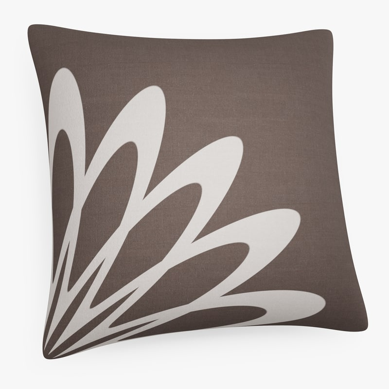 3D cushion printed contemporary pattern model