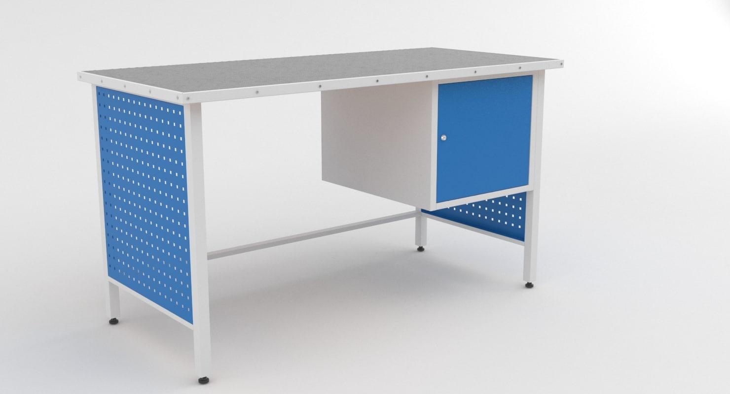 working table metal 3D model