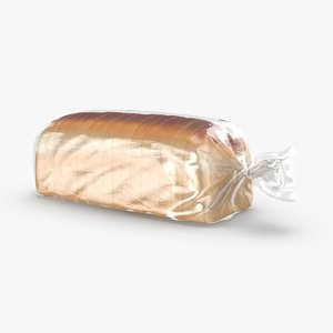 sliced-bread- in-bag 3D model