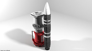 3D model rocket