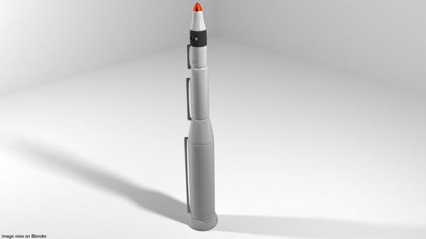 missile rocket 3D model