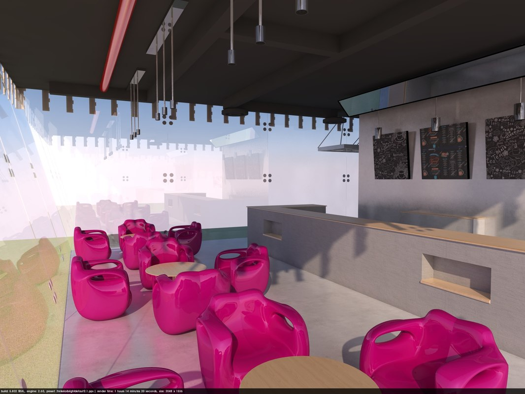 3D cafe chairs