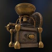 3D steampunk cofee grinder
