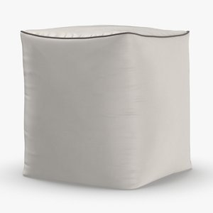 mid-century-modern-pouf 3D model