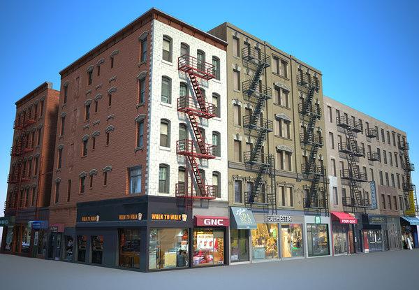 3D model new york buildings east