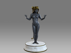 3D female zodiac sign leo