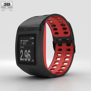 3D nike gps sportwatch model