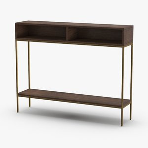 3D mid-century-modern-console-table