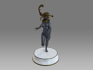female zodiac sign scorpio 3D model
