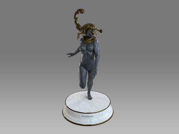 female zodiac sign scorpio 3D model