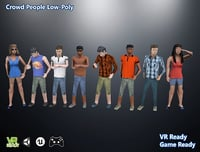 optimized people crowd 3D