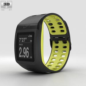 3D model nike gps sportwatch