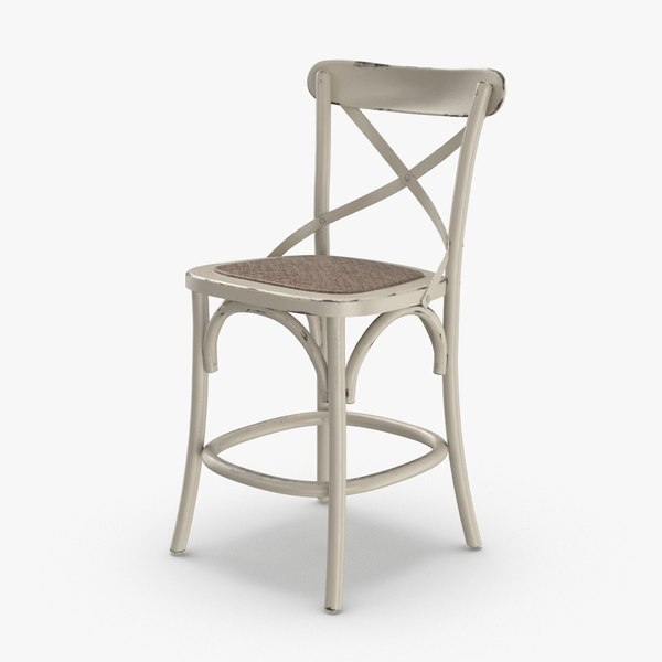 3D transitional-bar-stool model