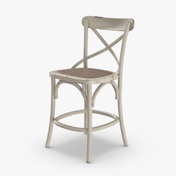 3D transitional-bar-stool model