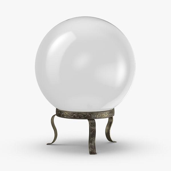 3D model crystal-ball-02---clear