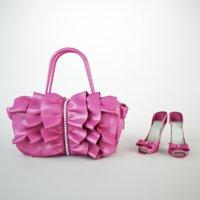 cartoon bag and shoes 3D model
