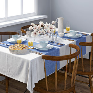 3D tableware table model