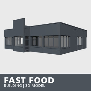 3D fast food building