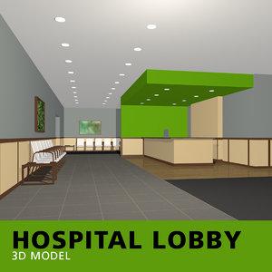 hospital lobby model