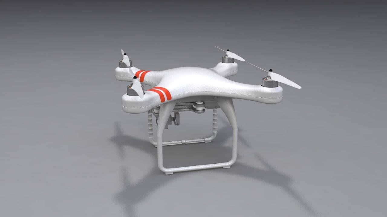 3D model phantom drone modeled