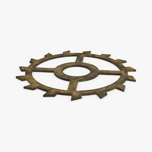3D clock-gears-02-dirty---gear-2-dirty model