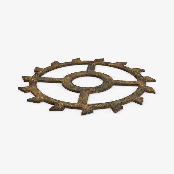 3D clock-gears-02-dirty---gear-2-dirty model